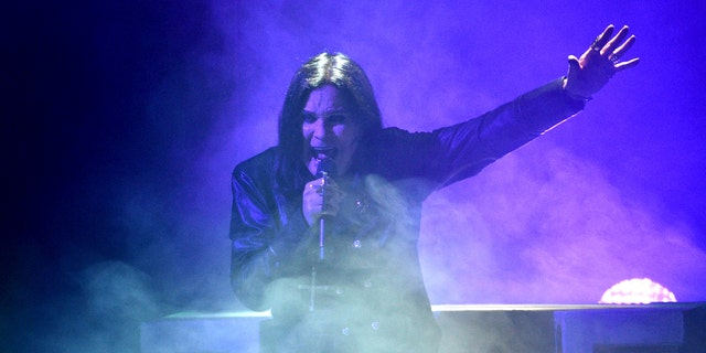 Ozzy Osbourne performing at the American Music Awards in Los Angeles.