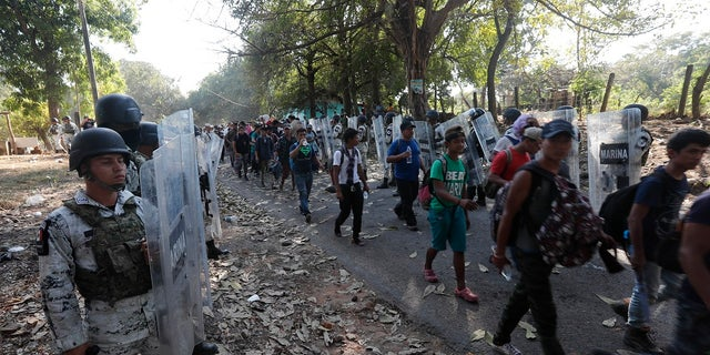 Westlake Legal Group AP20023783497303 Caravan in Mexico broken up by national guardsmen, immigration agents Louis Casiano fox-news/world/migrant-caravan fox-news/us/immigration/mexico fox-news/us/immigration/illegal-immigrants fox-news/travel/regions/central-america fox news fnc/world fnc d78b8cdd-7d36-5eb9-b55c-ca4d9a3e61f5 article