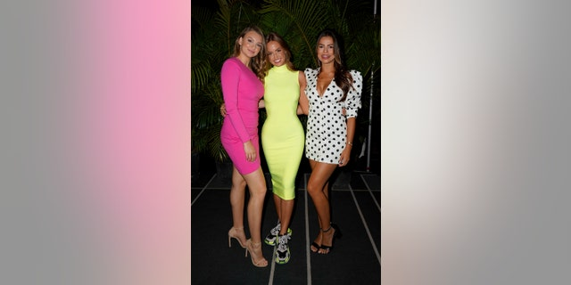 L-R: Olivia Brower, Haley Kalil and Brooks Nader of SI Swimsuit fame.