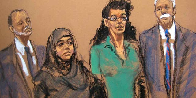 "Seen here in an illustration, Asia Siddiqui and Noelle Velentzas were ""inspired by radical Islam"" and taught each other chemistry and electrical skills necessary to build explosives and detonating devices, authorities said. (AP)"