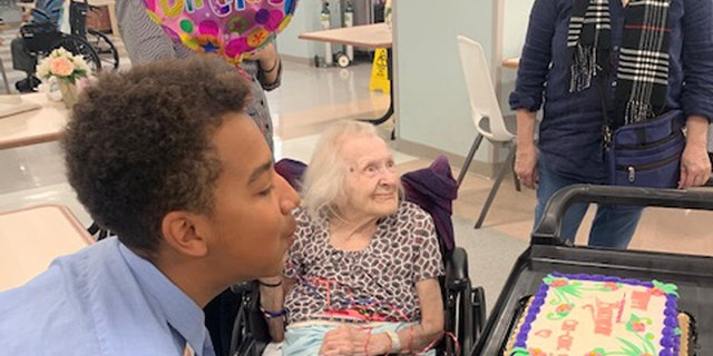Basti Williams celebrates Hildegard's 94th birthday at the nursing home in the Upper East Side. The two became friends and eventually family through their shared German heritage.