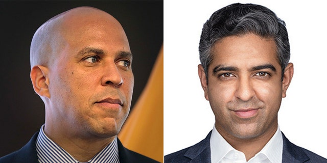 Hirsh Singh, right, said part of his campaign to unseat Sen. Cory Booker is by courting disillusioned minority voters.