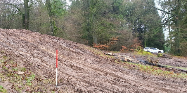 The burial mound is at Wentwood Forest in South Wales. (Gwent Police Rural Crime Team)