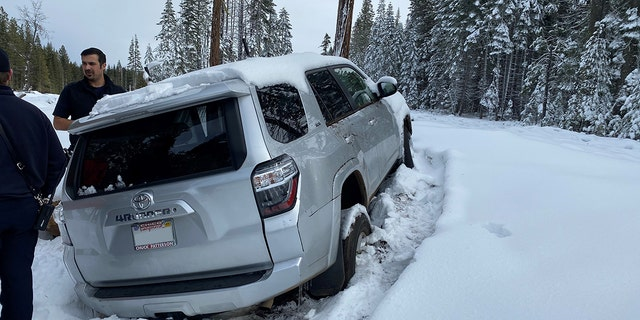 The vehicle was found about 150 yards off the roadway in Butte Meadows, Calif.