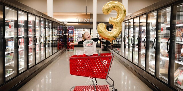 A little girl named Campbell from Des Moines recently celebrated her golden birthday at the superstore.