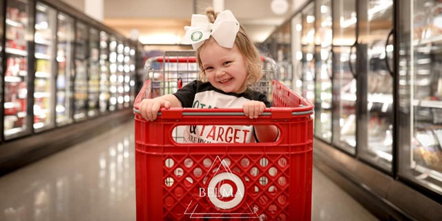 An adorable youngsterin Iowa recently celebrated turning three-years-old with a fete of her favorite things – Target and Starbucks Frappuccino's.