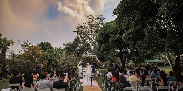 The wedding party knew of the potential for the volcano, which is located about 37 miles south of Manila, and its potential eruption.