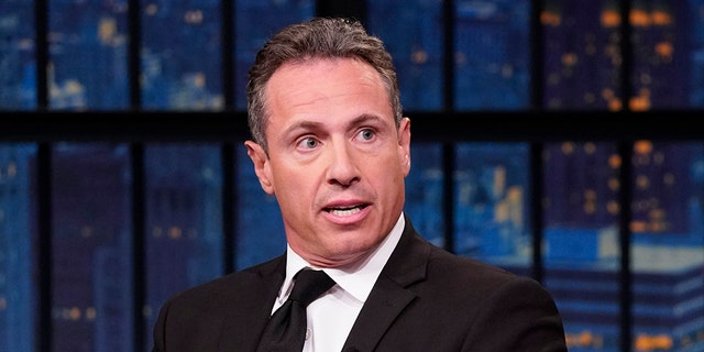 LATE NIGHT WITH SETH MEYERS -- Episode 867 -- Pictured: (l-r) CNN's Chris Cuomo during an interview with host Seth Meyers on August 1, 2019 -- (Photo by: Lloyd Bishop/NBCU Photo Bank/NBCUniversal via Getty Images via Getty Images)