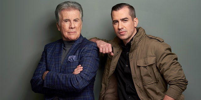John Walsh (L) and Callahan Walsh of Investigation Discovery's 'In Pursuit With John Walsh' pose for a portrait during the 2019 Winter TCA at The Langham Huntington, Pasadena on February 12, 2019, in Pasadena, California.