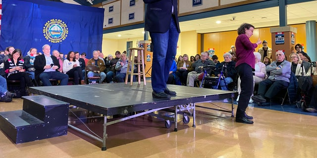 Democratic presidential candidate Sen. Cory Booker of New Jersey holds a campaign event in Exeter, NH on Jan. 2, 2020