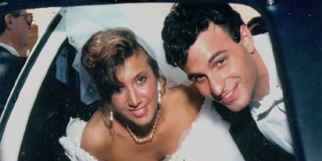 Barbra Reifel and Michael Mastromarino on their wedding day.