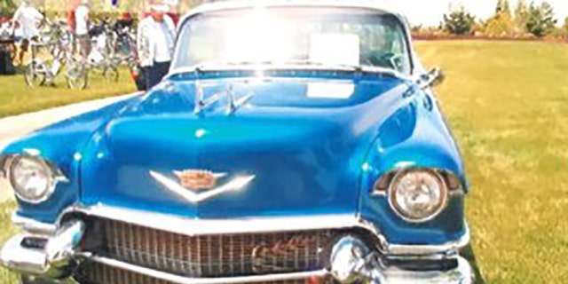 Rita Hayworth's name is beveled on the car's doors, rear and engine block, police said.