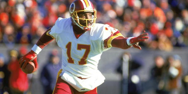 Doug Williams led Washington to a big blowout win against the Denver Broncos in Super Bowl XXII. (Photo by: Jonathan Daniel/Getty Images)
