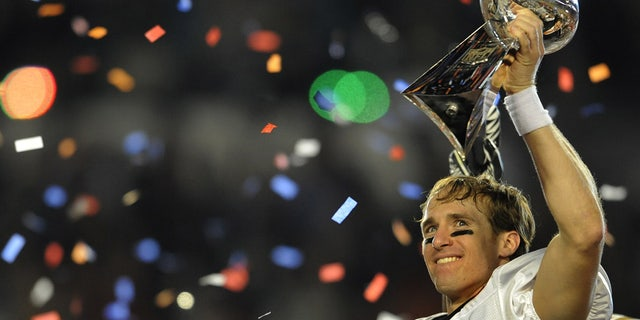 Drew Brees helped the Saints to their first Super Bowl title. (TIMOTHY A. CLARY/AFP via Getty Images)