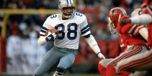 Drew Pearson played his entire career with the Cowboys. (Photo by Focus on Sport/Getty Images)
