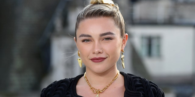 "Florence Pugh attends the ""Little Women"" London photocall at The Corinthia Hotel on December 16, 2019 in London, England."