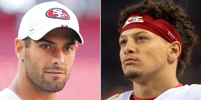 Jimmy Garoppolo and Patrick Mahomes are readying for their Super Bowl matchup.