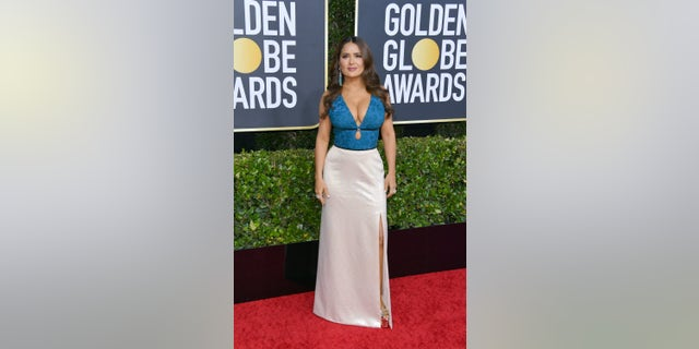 Salma Hayek attends the 77th Annual Golden Globe Awards at The Beverly Hilton Hotel on January 05, 2020 in Beverly Hills, California. (Photo by George Pimentel/WireImage)