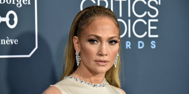 Jennifer Lopez attends the 25th Annual Critics' Choice Awards at Barker Hangar on January 12, 2020