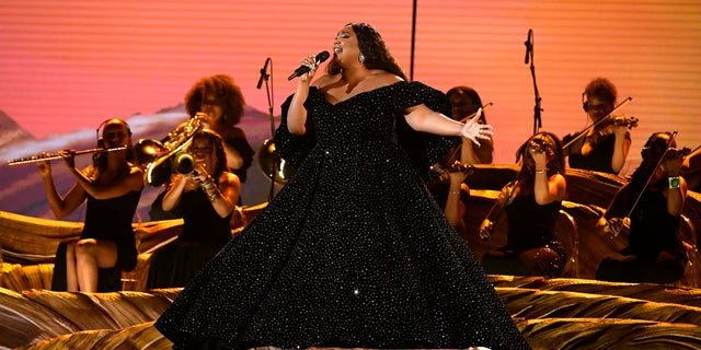 Lizzo performs onstage during the 62nd Annual GRAMMY Awards at Staples Center on January 26, 2020 in Los Angeles, California.