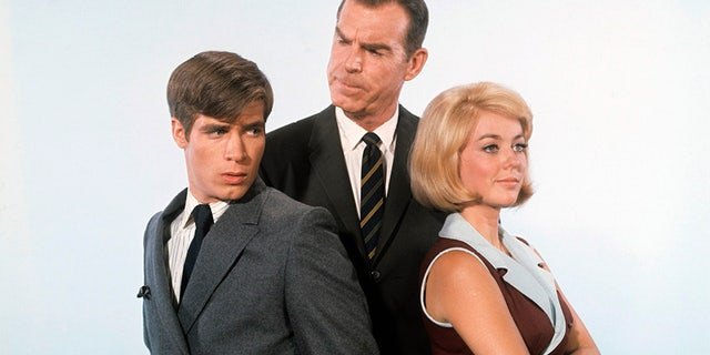 Don Grady, Fred MacMurray and Tina Cole starred in