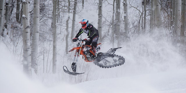 """""""Monster"""" Mike Schultz is gearing up for his latest winter competition. The X Games Paralympic athlete has a new cutting-edge prosthesis that will take his power and vigor to the next level. (""""Monster"""" Mike Schultz)"""