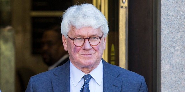 WASHINGTON, DC: Greg Craig, former White House counsel to former President Barack Obama departs from the U.S. District Courthouse following a hearing on April 15, 2019 in Washington, DC. The charges against Craig stem from special counsel Robert Mueller's investigation and include lying to the Justice Department and concealing information connected to work Craig did in 2012 for the Ukrainian government. (Photo by Zach Gibson/Getty Images)