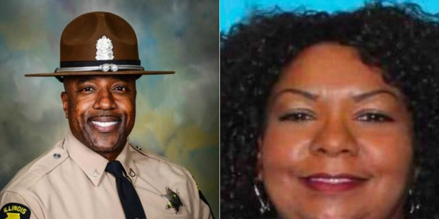 Retired Illinois State Trooper Gregory Rieves, 55, and Lisa McMullan, 51.