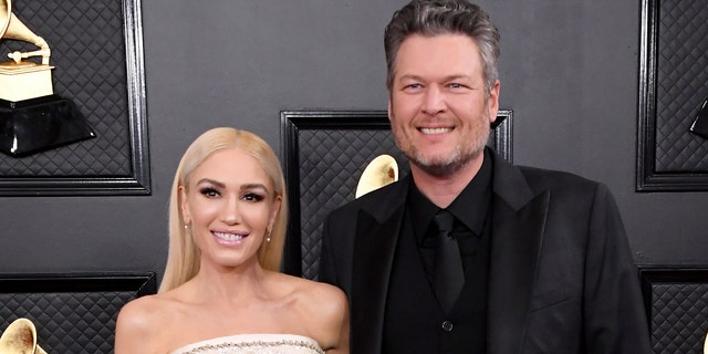 Gwen Stefani and Blake Shelton take part in the 62nd annual GRAMMY award at the Staples Center