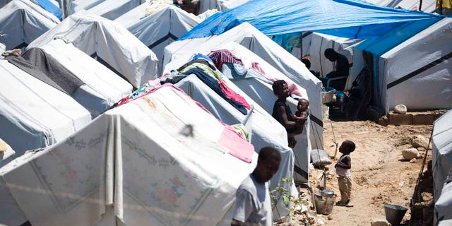 This 2010 photo shows Haitians living in tents following the country's most deadly earthquake.