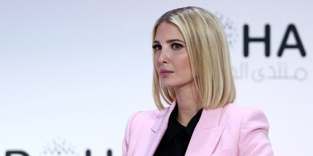 Ivanka Trump, senior adviser to the president of the United States and daughter of President Donald Trump, looks on during a plenary session of the Doha Forum in the Qatari capital on December 14, 2019 - file photo.