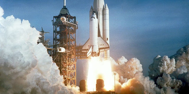 The first launch of the space shuttle Columbia, and the first launch of the space shuttle. More than two decades later, Columbia would make its final (and disastrous) flight where all seven astronauts on board were killed in a fiery crash. Image: NASA.