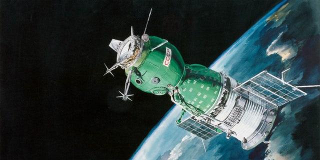 An artist's rendering of a Soyuz spacecraft. Image: NASA.