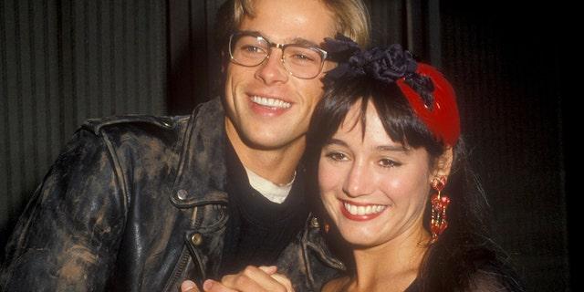 Brad Pitt and Jill Schoelen were engaged for three months.