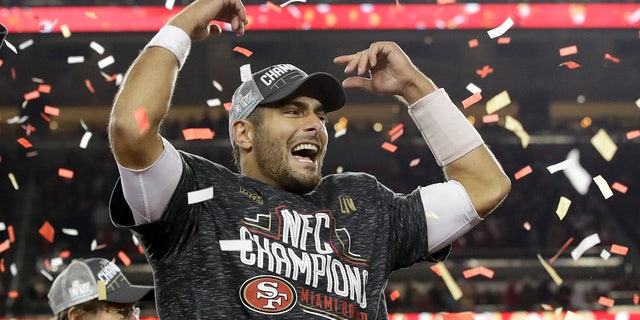 Garoppolo helped the 49ers to an NFC Championship. (AP Photo/Marcio Jose Sanchez)