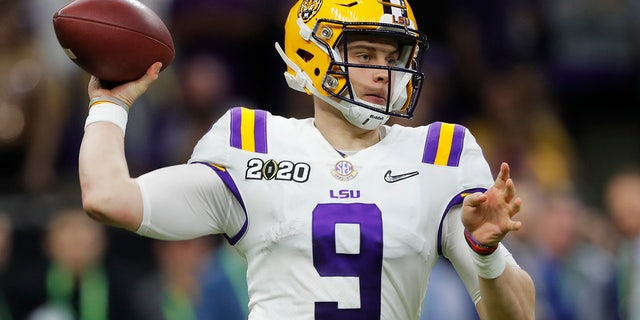 Joe Burrow is likely the top pick of the draft. (AP Photo/Gerald Herbert)