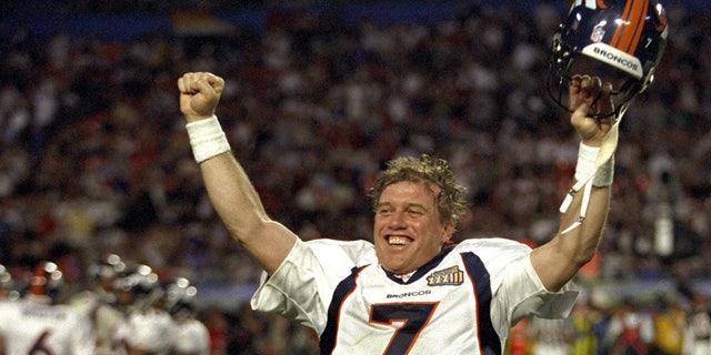 John Elway finally won a ring in Super Bowl XXXIII. (Photo by E. Bakke/Getty Images)