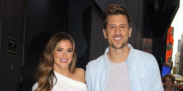 """JoJo Fletcher and Jordan Rodgers starred together on """"The Bachelorette,"""" where Jordan revealed that Aaron wasn't speaking to the family. (Photo by Jose Perez/Bauer-Griffin/GC Images via Getty)"""