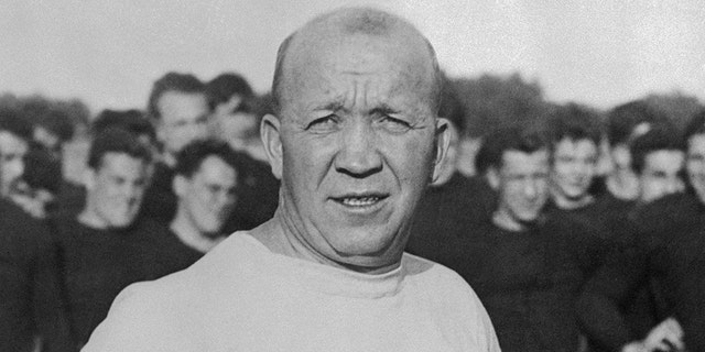 Notre Dame football coach Knute Rockne