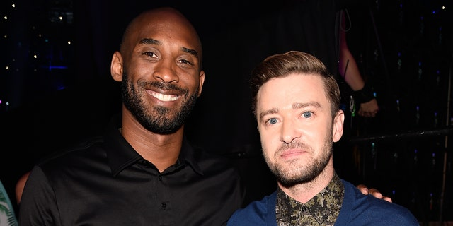 Kobe Bryant and Justin Timberlake attend the Teen Choice Awards 2016 at The Forum on July 31, 2016, in Inglewood, Calif.