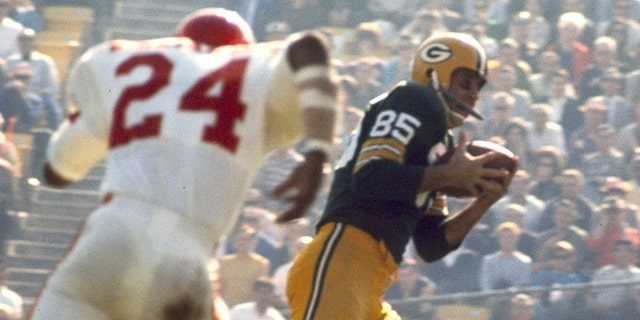 Max McGee set the bar for touchdown catches in Super Bowl I. (Photo by James Flores/Getty Images)