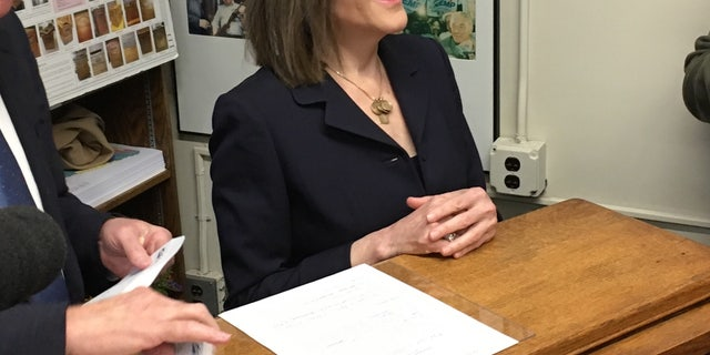 Democratic presidential candidate and best-selling spiritual author Marianne Williamson files to place her name on the New Hampshire primary ballot, in Concord, NH on Nov. 4, 2019
