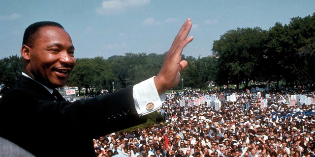 Dr. Martin Luther King Jr. giving his I Have a Dream speech to huge crowd gathered for the Mall in Washington DC during the March on Washington for Jobs & Freedom (aka the Freedom March). (Photo by Francis Miller/The LIFE Picture Collection via Getty Images)