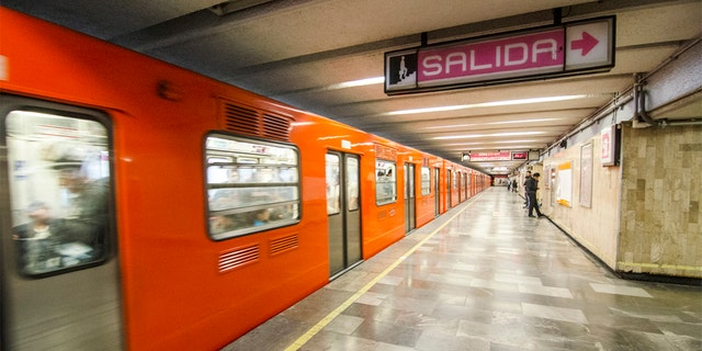 A subway train in Mexico City in 2016.