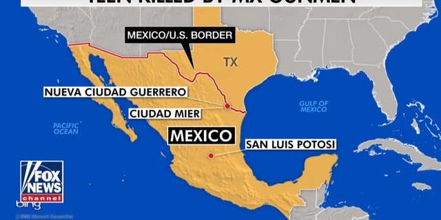 The deadly attack happened Saturday night on a two-lane highway paralleling the U.S.-Mexico border in the township of Ciudad Mier near the Texas border.