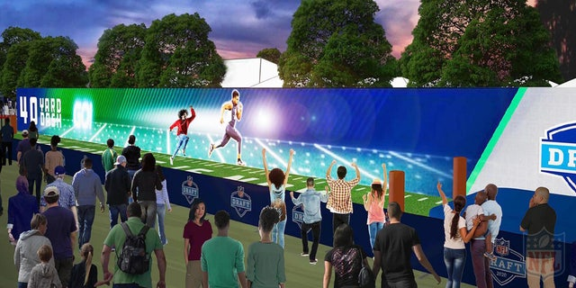 NFL Draft rendering of the fan experience.
