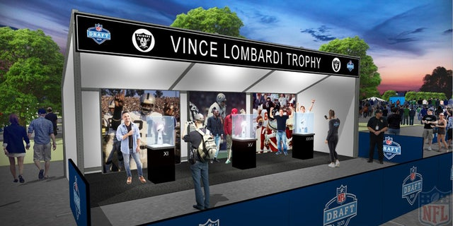 NFL Draft rendering of the Vince Lombardi Trophy showcase