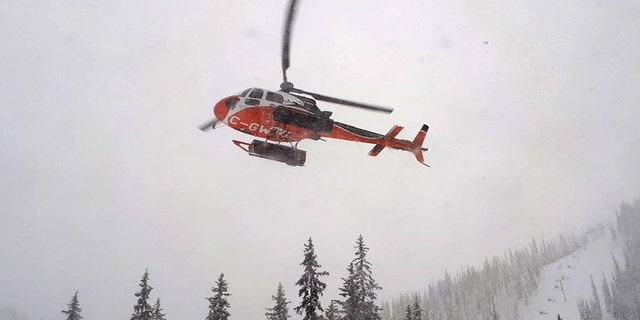 The boys were rescued during a break in the snowy weather that allowed a helicopter, like the one pictured above, to spot them, officials said.
