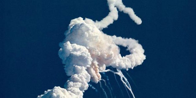 The space shuttle Challenger meets disaster just 73 seconds into launch. Image: NASA