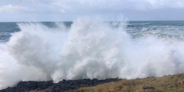 A 7-year-old girl was killed and her 4-year-old brother is missing after they and their father were swept into the ocean Saturday, on the Oregon coast amid a high-surf warning.
